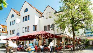 Café 21 in Dornbirn – Lokal von außen