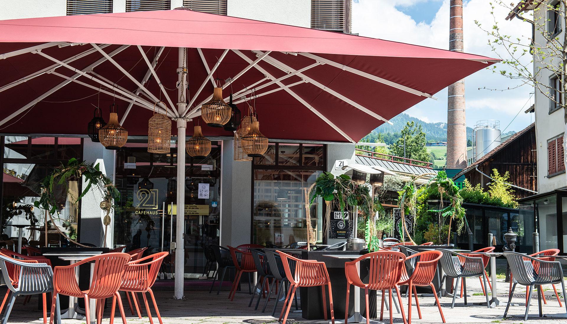 Cafe 21 von Außen