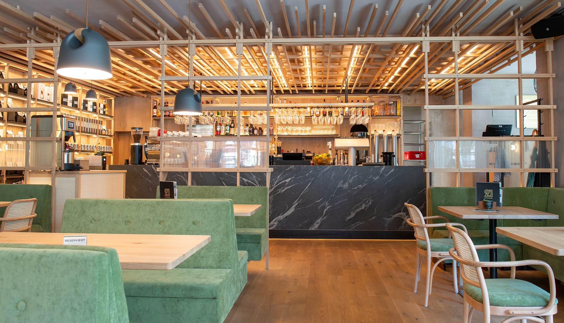 Cafe 21 – Innenarchitektur